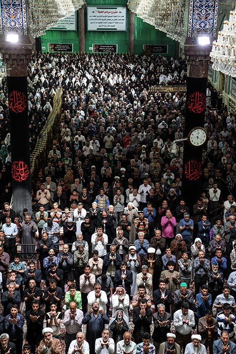Prayer At The Imam Hussein Holy Shrine
