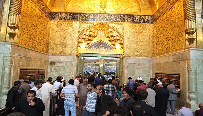 International Pilgrims At The Imam Hussein Holy Shrine