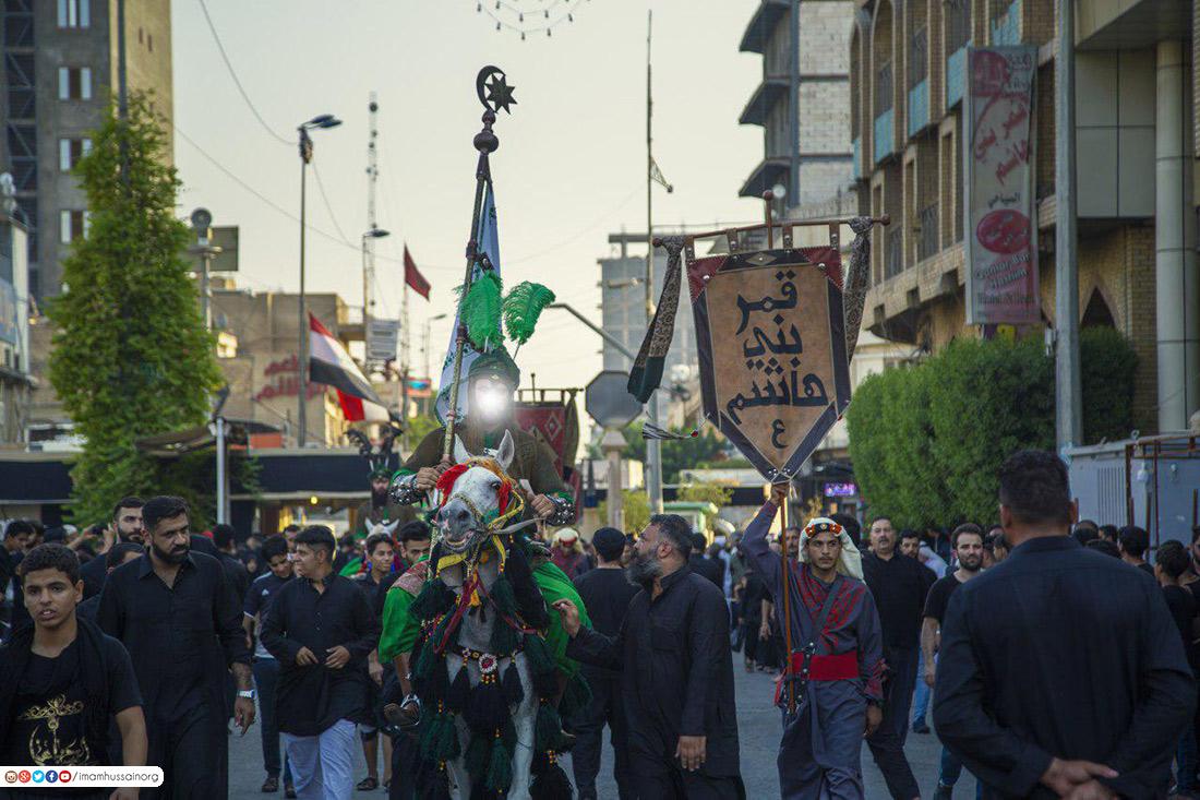 صور .. دخول قافلة الامام الحسين الى كربلاء