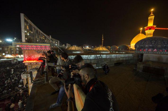 انعکاس مراسم عاشورا در کربلا معلی توسط بیش از ۲۵۰ رسانه داخلی و خارجی