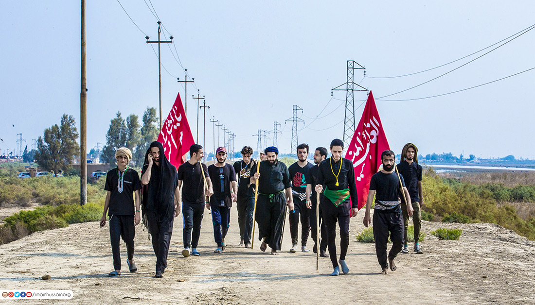 In picture: Arbaeen pilgrims coming from everywhere toward Imam Hussain (Peace Be Upon Him)