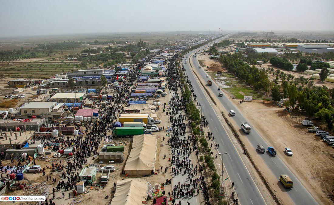 صور جوية لمدينة كربلاء خلال زيارة الاربعين
