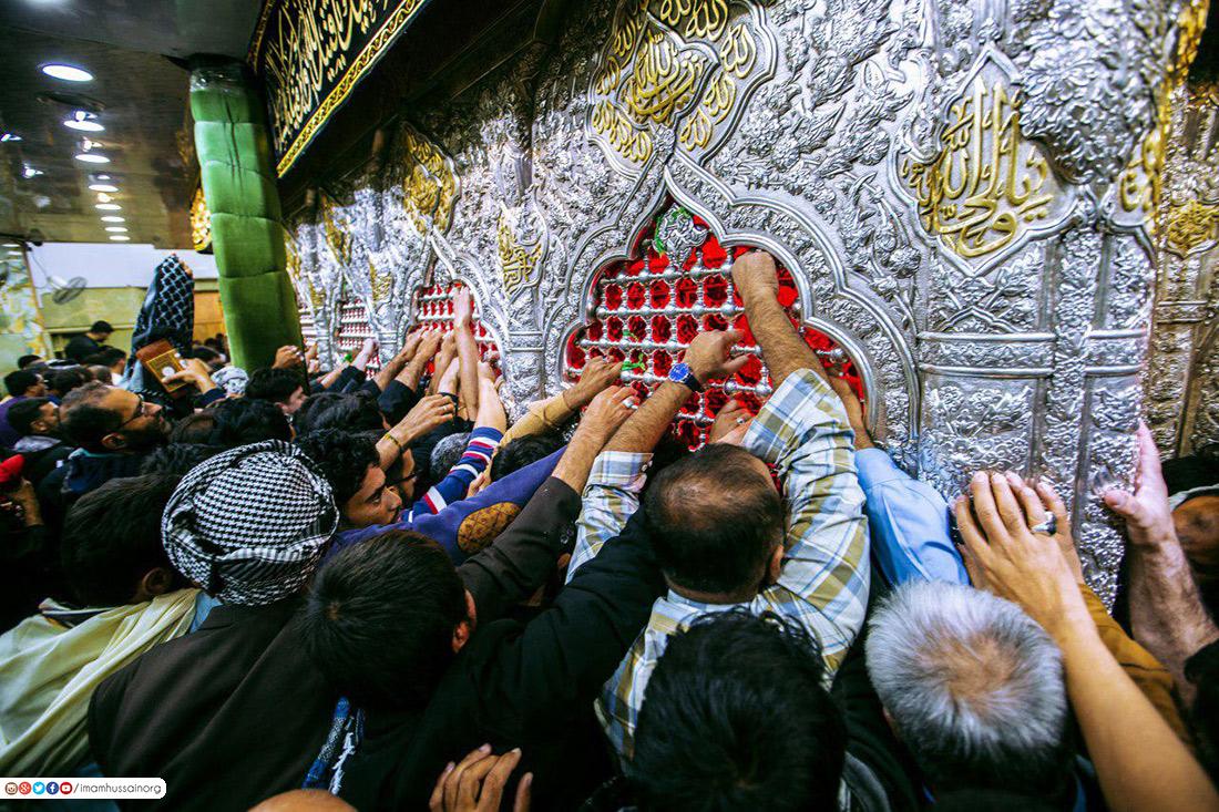 بالصور .. حرم الامام الحسين في وفاة (الصادق الامين)