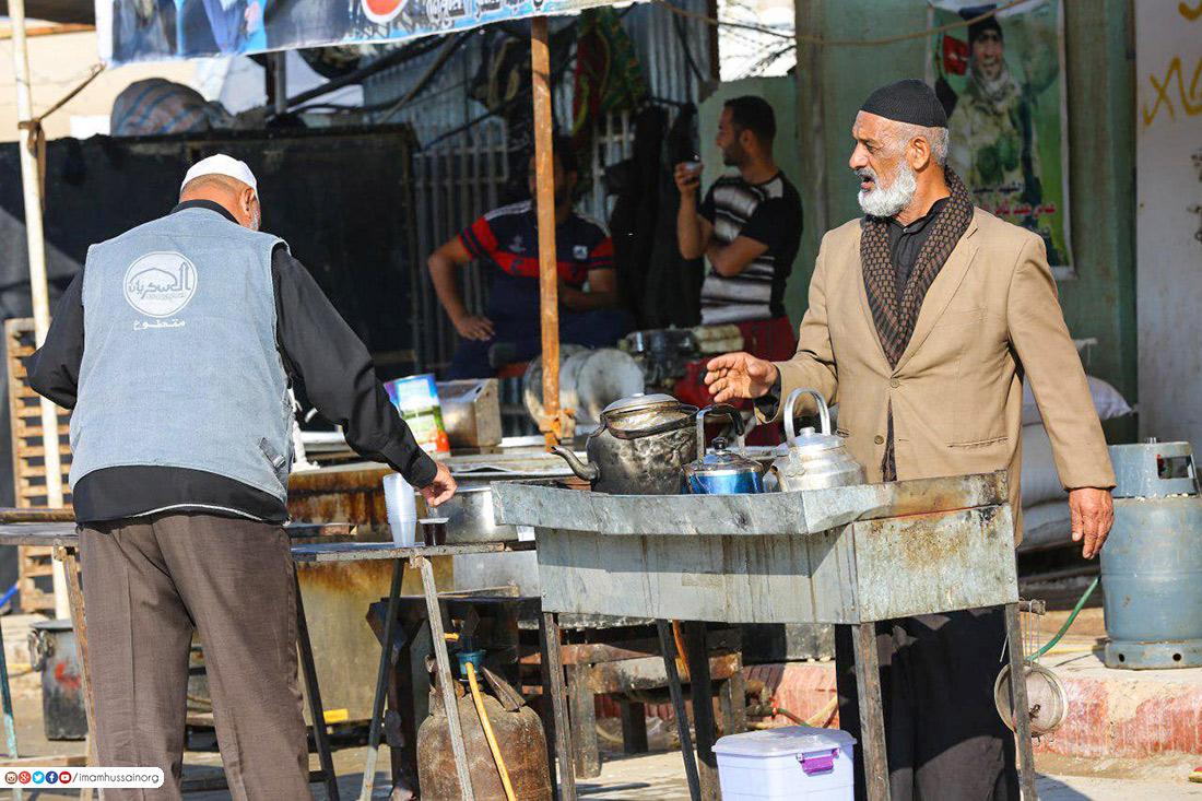 مئات المواكب الحسينية تنتشر في سامراء .. صور