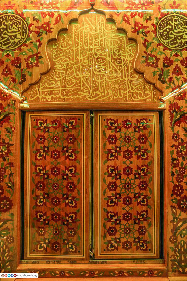صور حصرية للنقوش والزخارف في شباك مرقد العباس من الداخل