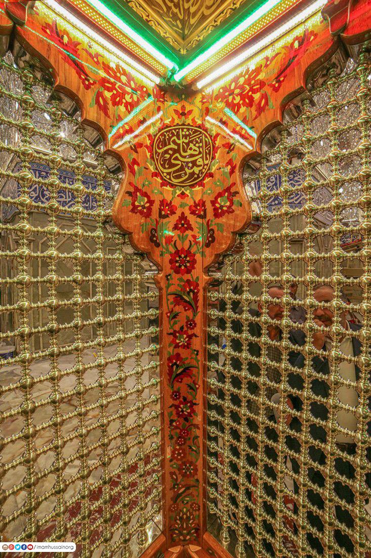 تصاویری از نقوش اسلیمی داخل ضریح مطهر حضرت ابوالفضل عباس (علیه السلام)