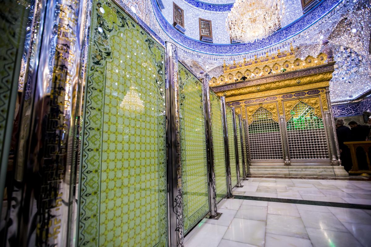 اتمام نصب پارتیشن های جدید در حرم حضرت عباس(ع) با طراحی برگرفته از ضریح مطهر