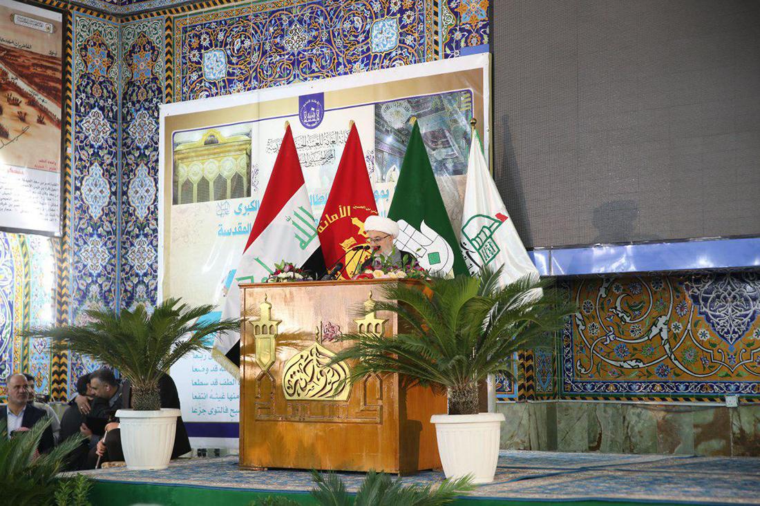العتبة الحسينية تفتتح الشبابيك الجديدة وتسقيف خيام الامام الحسين واهل بيته
