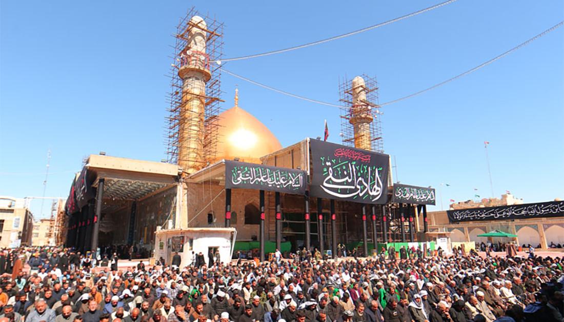 Convoy of service volunteers sent from Imam Hussain Shrine to Eleskeryain Shrine