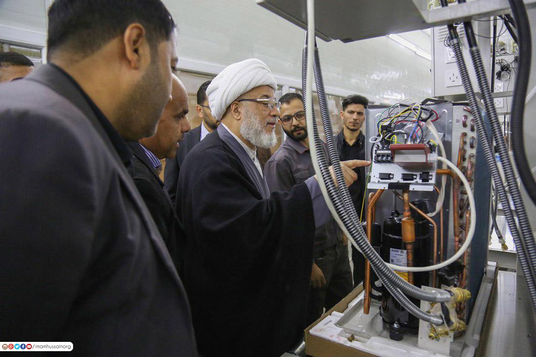العتبة الحسينية.. تواصل انتاج اجهزة التبريد بأسعار مخفضة