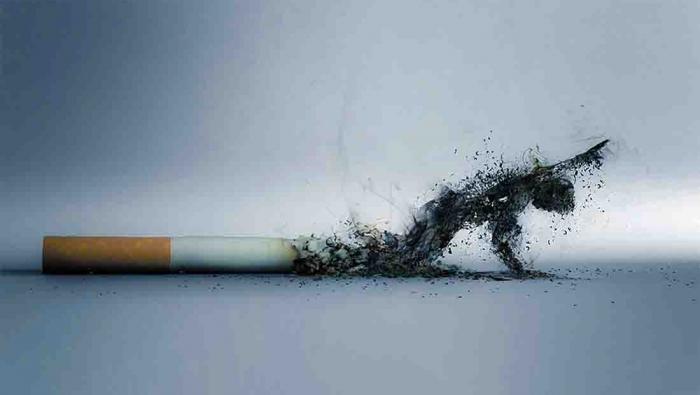 غرق في طوفان التدخين!