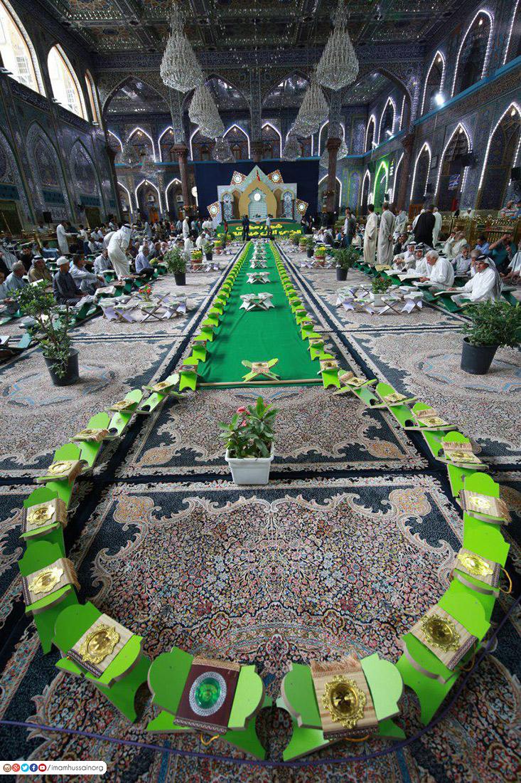 بالصور: بهذه الاجواء استقبل مرقد الامام الحسين شهر رمضان المبارك