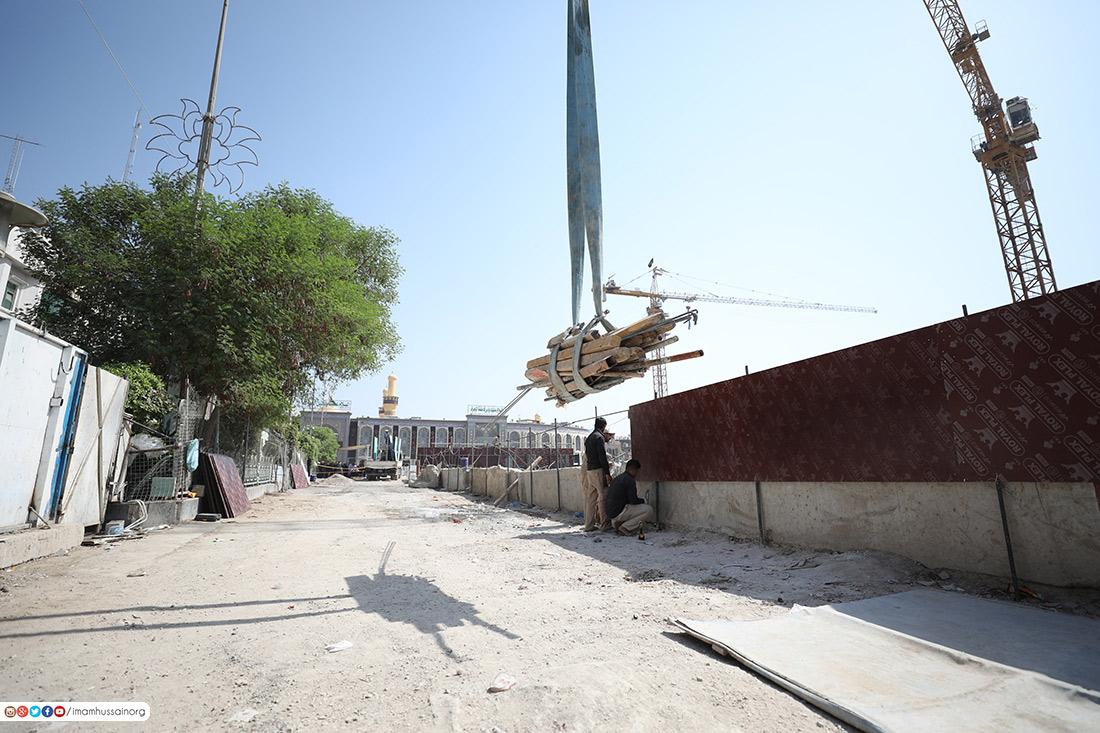 لاول مرة.. مساحات واسعة من صحن العقيلة المجاور لمرقد الامام الحسين (ع) تفتتح امام الزائرين