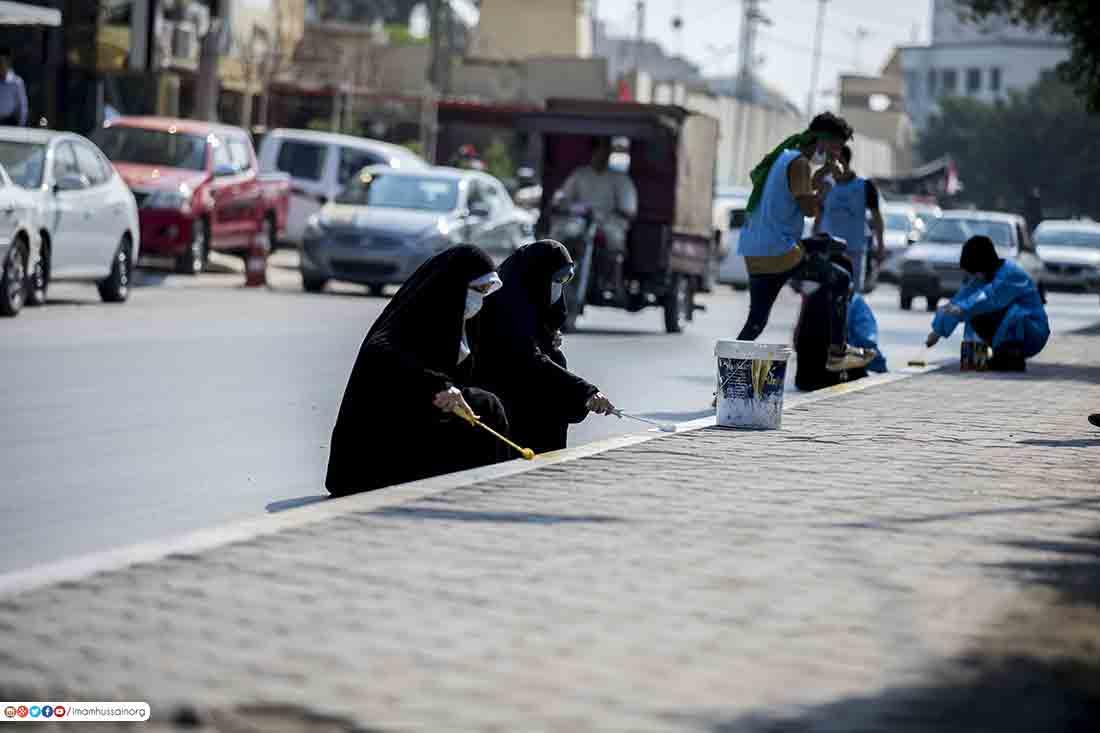 بالصور: في كربلاء.. هذا ما يقوم به المتظاهرون في ساحة التظاهر