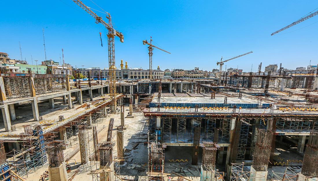 كل ما تريد ان تعرفه عن مشروع صحن العقيلة زينب (ع) الذي تنفذه العتبة الحسينية بجوار مرقد الامام الحسين (ع)