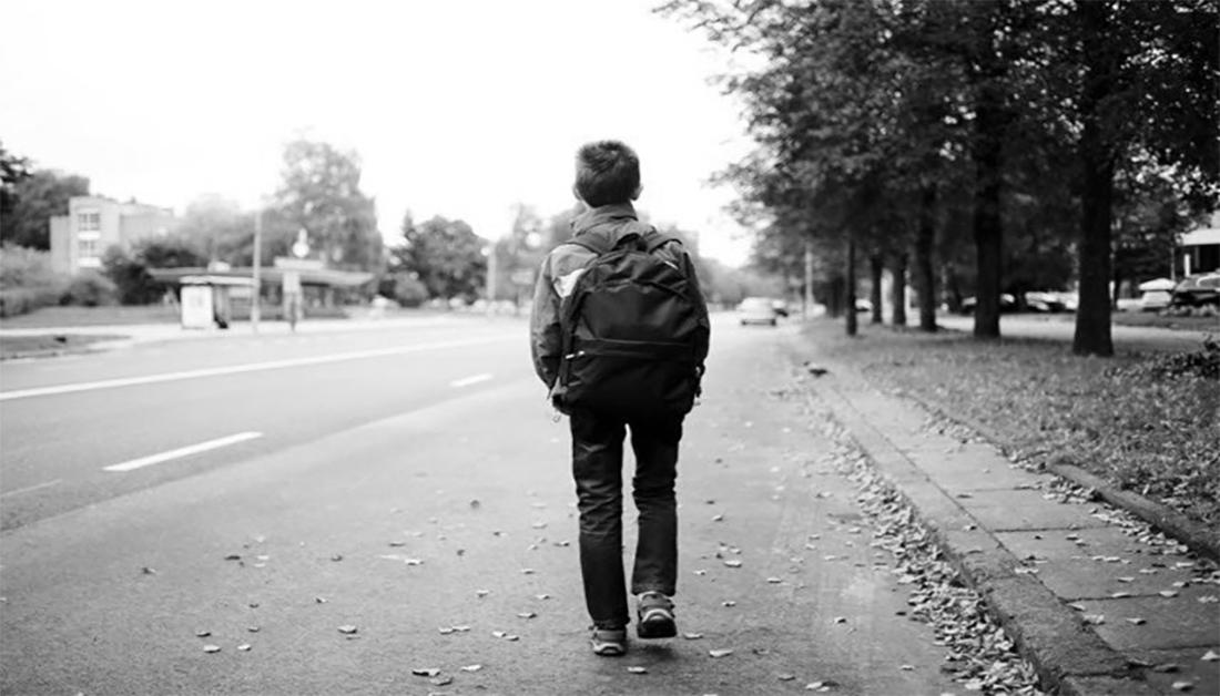 في طريق المدرسة